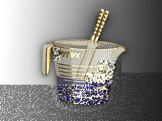 Prong diamond pyrex custom pendant mens metal white gold 10k round mens diamond jewelry mens pendants metal prong diamond pyrex custom pendant aloadofball Images