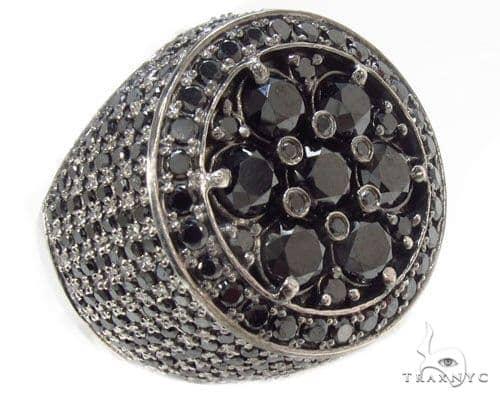 Black Diamond Silver Ring 34945 Metal