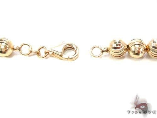 Details about  /14k 14kt Yellow Gold Bead Necklace 18 inch 6mm X 6mm
