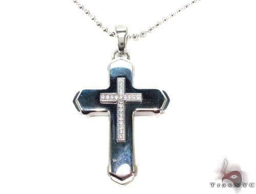 Stainless Steel Cross n 24 Inches, 3mm 45.3 Grams Stainless Steel