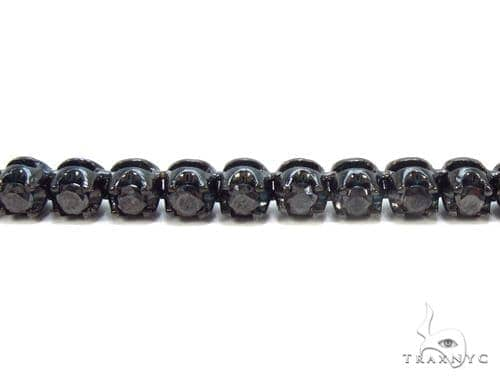 Prong Black Diamond Chain 32 Inches 4mm 68 Grams Diamond