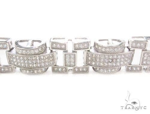 CZ Silver Bracelet 36138 Silver