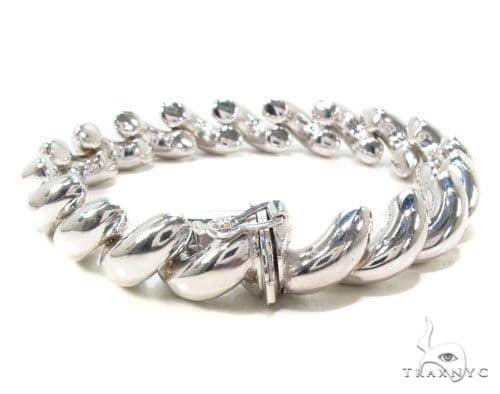 Twist Silver Bracelet 36337 Silver