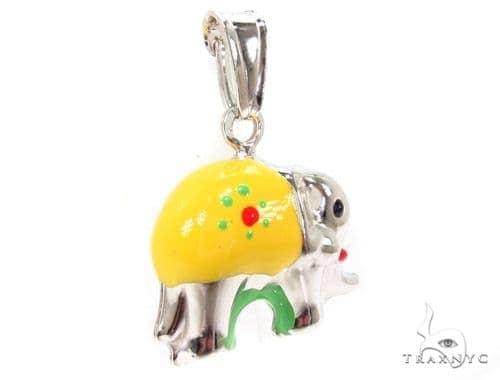 Elephant Silver Pendant 36355 Metal