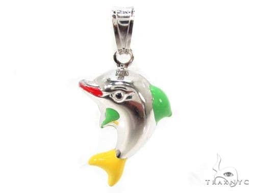 Dolphin Silver Pendant 36358 Metal