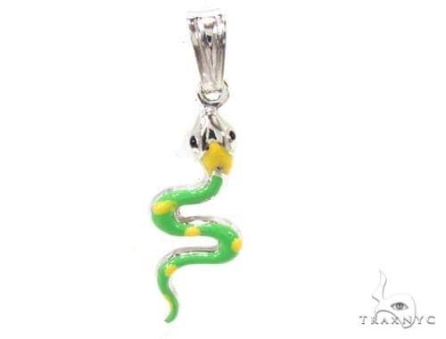 Snake Silver Pendant 36369 Metal
