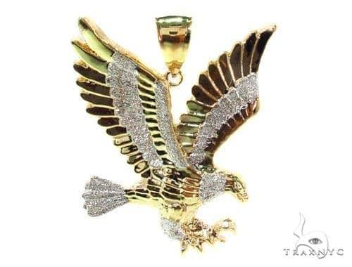 Gold over silver eagle pendant 36453 mens metal 925 silver mens diamond jewelry mens pendants metal gold over silver eagle pendant 36453 mozeypictures Gallery