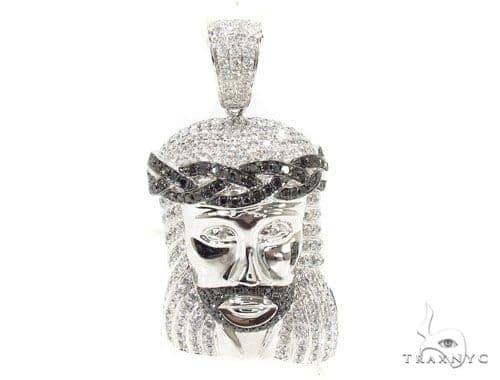 Jesus crown of thorns pendant 36617 mens diamond jesus piece white mens diamond jewelry mens pendants style jesus crown of thorns pendant 36617 aloadofball Choice Image