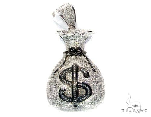 Hip hop jewelry money bag pendant mens hip hop pendant white gold mens diamond jewelry mens pendants metal hip hop jewelry money bag pendant aloadofball