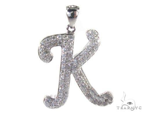 Frozen K Pendant Metal