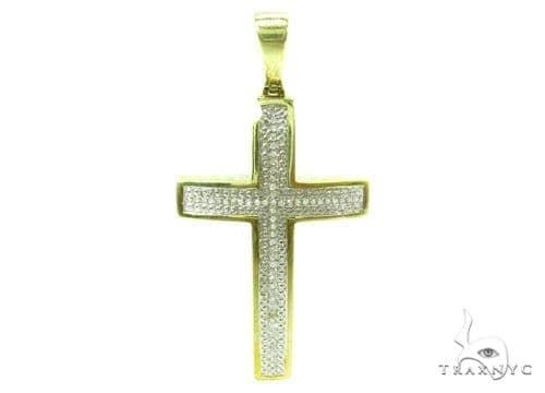 Prong Diamond Silver Cross 37181 Silver