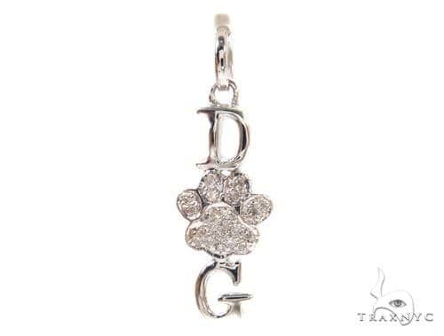 Prong Diamond Silver Pendant 37329 Metal