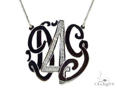 Diamond Monogram Pendant 37393 Stone