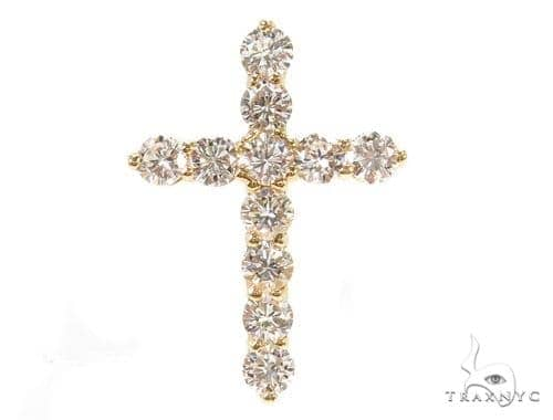 Prong Diamond Cougar Cross 37430 Style