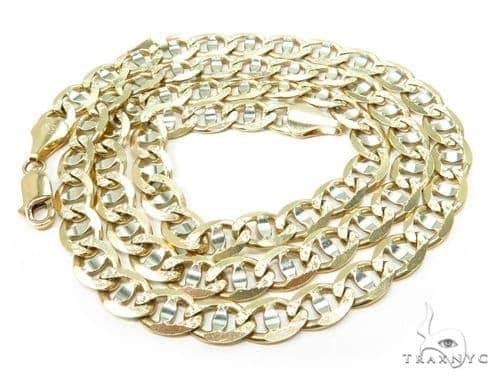 14k gold ep marine mariner  mens necklace 6mm 24 grams