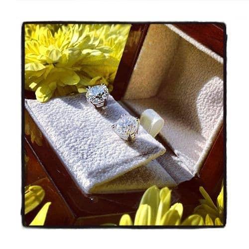 Prong Diamond Stud Earrings 37835 Style