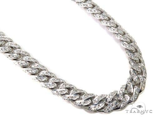 Prong Diamond Cuban Chain 30 Inches 13mm 282.3 Grams Diamond