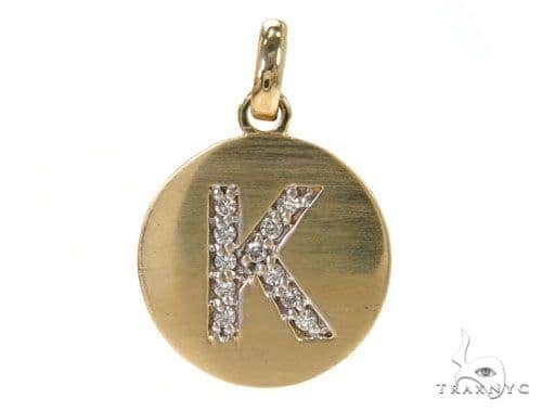 """14KT WHITE GOLD EP NUMBER /""""4/"""" DIAMOND CUT CHARM"""