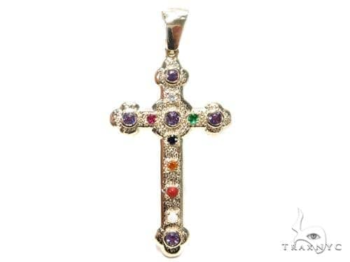 Basilica Diamond Gemstone Cross 40809 Style