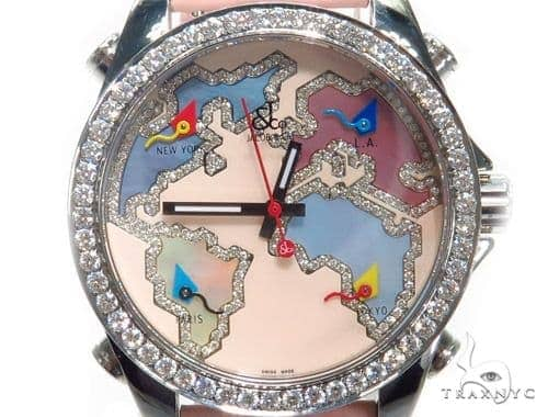 JACOB & Co Five Time Zone Diamond Watch JCM125 41005 JACOB & Co