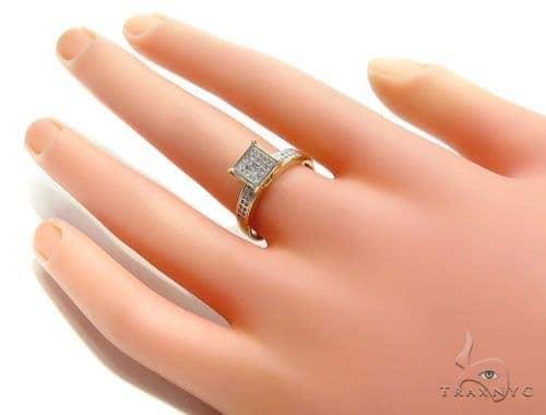 Prong Diamond Engagement Ring 41017 Ladies Yellow Gold 10k Round Cut 025 Ct