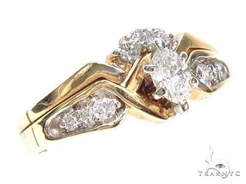 Prong Diamond Engagement Ring Set 41037 Engagement