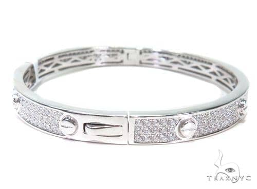 Sterling Silver Bangle Bracelet 41123 Silver