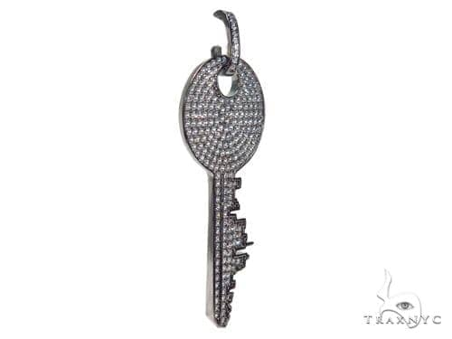 Key Sterling Silver Pendant 41155 Metal