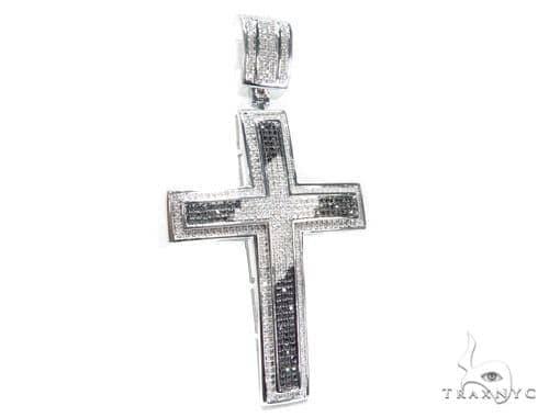 Prong Diamond Silver Cross 41775 Silver