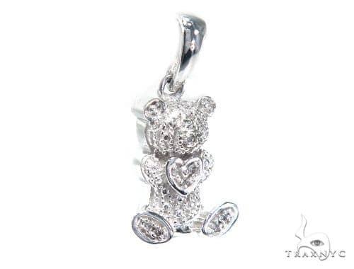 Bear Diamond Pendant 41796 Stone