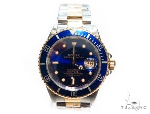 Pre-Owned Rolex Submariner Steel 16803 Diamond Rolex Watch Collection