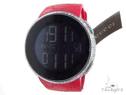 Fully Iced Digital Red Super Gucci Watch 41896 Gucci