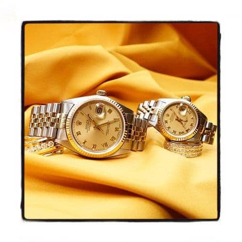 Rolex Datejust Steel & Yellow Gold V16233chsj Diamond Rolex Watch Collection
