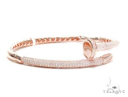 Nail Silver Bangle Bracelet 42214 Silver & Stainless Steel