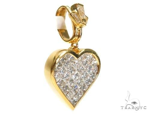 Invisible Diamond Heart Pendant 42395 Style