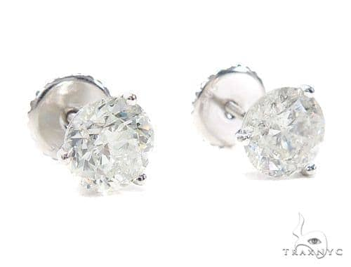 Martini Stud Diamond Earrings 42557 Style