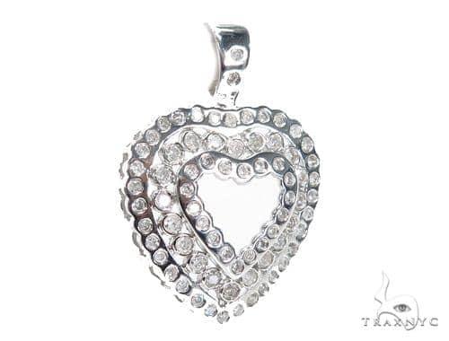 Bezel Diamond Heart Pendant 42615 Style