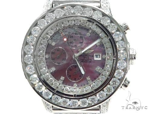 Breitling Super Avenger Fully Diamond and Gold Watch 42806 Breitling