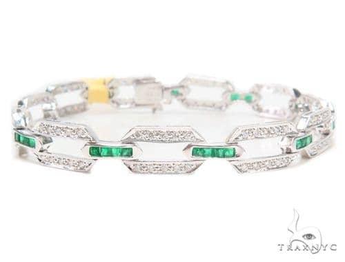 Prong Diamond Gemstone Bracelet 43276 Gemstone & Pearl