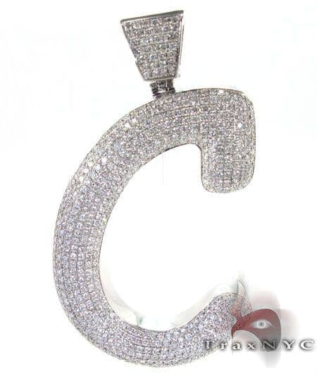 Iced letter c pendant mens diamond pendant white gold 14k round cut mens diamond jewelry mens pendants metal iced letter c pendant aloadofball Choice Image