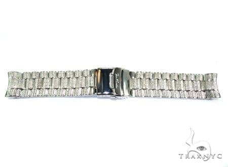 Joe Rodeo White Stainless Steel Band 24mm Fully Iced 43340 Watch Accessories