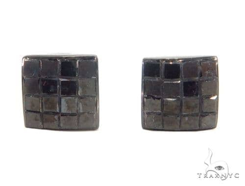 Invisible Black Diamond Earrings 43916 Style