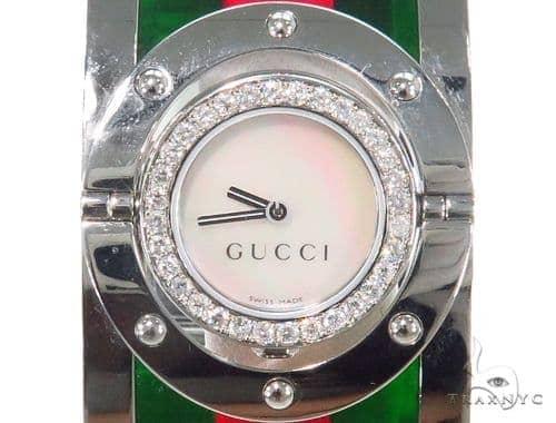 Pave Diamond Gucci Women's Watch YA112417 44144 Gucci