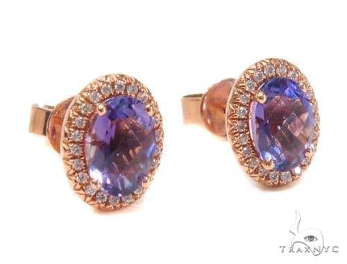 Gemstone Diamond Earrings 44746 Stone