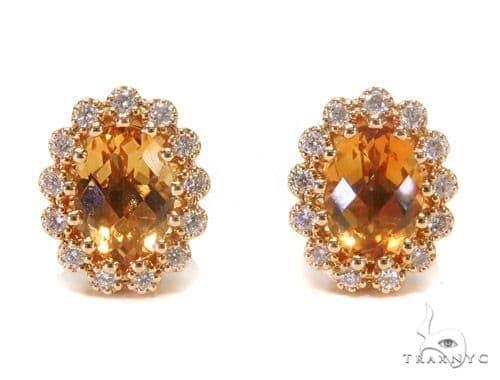 Gemstone Diamond Earrings 44747 Stone