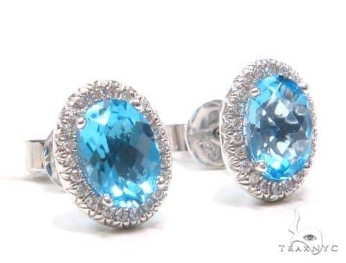 Gemstone Diamond Earrings 44753 Stone