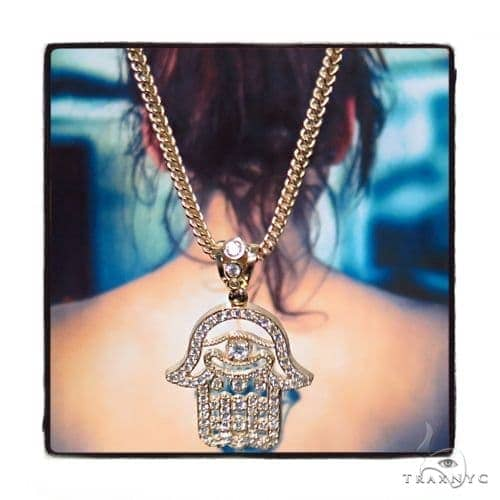 Large hamsa pendant 26 inch franco chain set 45002 mens metal mens diamond jewelry mens pendants metal large hamsa pendant 26 inch franco chain set 45002 mozeypictures Image collections