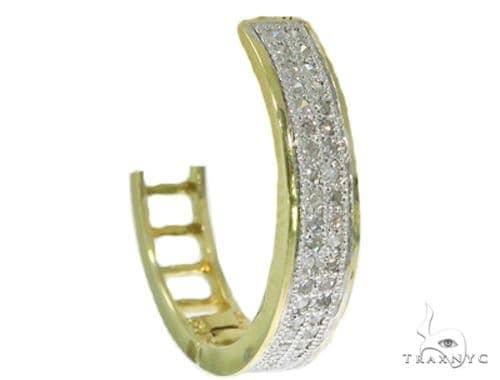 Prong Diamond Single Hoop Earring 44973 Stone