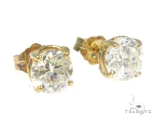 Prong Diamond Stud Earrings 45055 Style