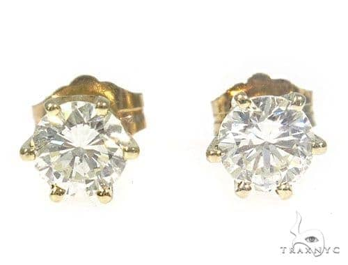 Prong Diamond Stud Earrings 45053 Style